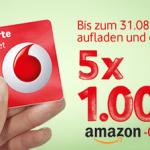 5×1000 Euro Amazon Gutscheine bei der Callya Freikarte zu gewinnen