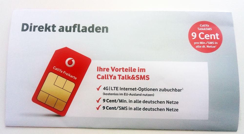 Callya Sim Karte.Vodafone Freikarte Die Kostenlose Callya Simkarte Prepaid